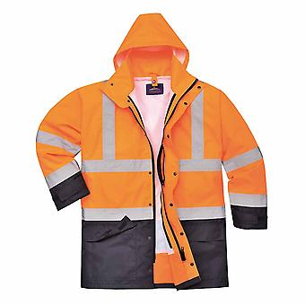 Portwest - Hi-Vis Outdoor Executive Adaptable 5-in-1 Jacket With Pack Away Hood