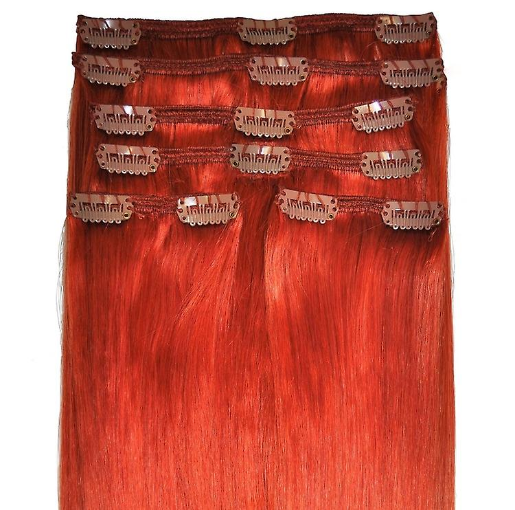 #350 Copper - Clip in Hair Extensions - Full Head - #350 - Copper