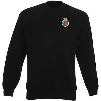 HMS Trumpeter Embroidered logo - Official Royal Navy Heavyweight Sweatshirt