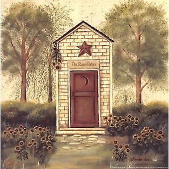 Arte popular Outhouse III Poster Print by Pam Britton (12 x 12)