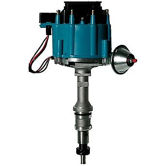 Proform 66980B Vacuum Advance HEI Distributor with Steel Gear and Blue Cap for Ford 351C-400/429/460