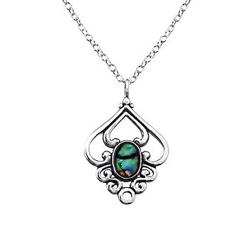 Flower - 925 Sterling Silver Jewelled Necklaces - W30859X