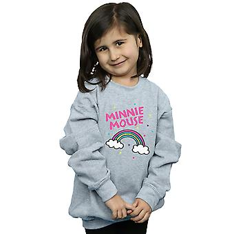 Disney Girls Minnie Mouse Rainbow Dots Sweatshirt