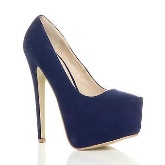 Ajvani womens stiletto high heel concealed platform party court shoes pumps
