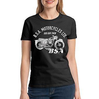 BSA Motorcycles 500 OHV TWIN Women's Black T-shirt