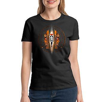 T-shirt noir le cinquième élément élément cercle féminin