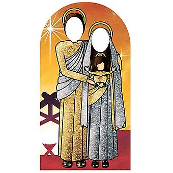 Gold Nativity Scene Stand In Lifesize Cardboard Cutout / Standee