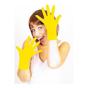 Handschoenen kort handschoenen geel basic