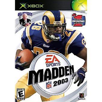 Madden NFL 2003 (Xbox) - New
