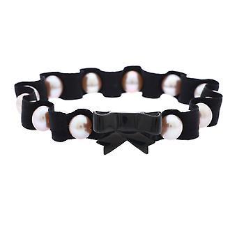 Misaki Mesdames bracelet en acier inoxydable textile BANAIS QCUBANAISSMALL petits