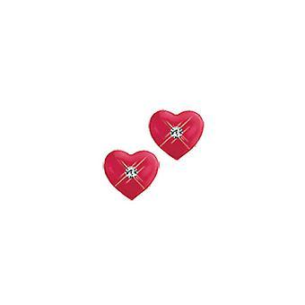 Scout Kinder Ohrringe Ohrstecker Silber Herz rot Mädchen 262145100