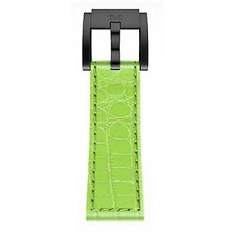 TW Steel Marc Coblen armband horloge band 22 MM Croco lederen licht groene LB_HG_K_B
