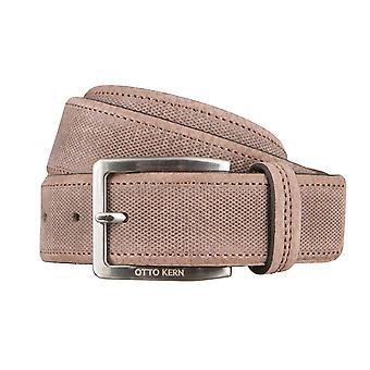 OTTO KERN belts men's belts leather belt dark brown 2977