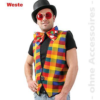Vest kostuum mens Plaid vest kleurrijke diamanten clown moderator heer kostuum