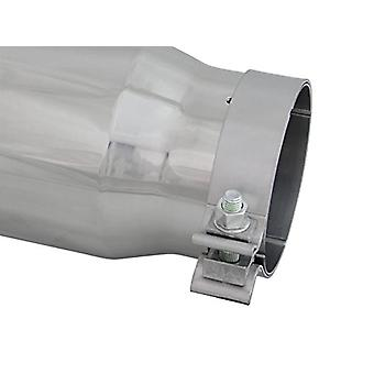AFE Filters 49T40501-P15 MACH Force-Xp Exhaust Tip 4 in. x 5 in. Out x 15 in. L Polished Stainless Steel Tip w/aFe Power