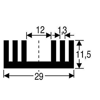 Fischer elektronik SK 09 37,5 SA varme vask 8,6 K/W (L x b x H) 37,5 x 29 x 11,5 mm til 220, SOT 32
