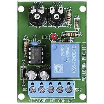 Velleman VM136 intervalltidtaker komponent 12 V DC 0,5-60 s