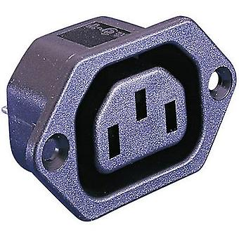 Bulgin PX0675/28 المقبس IEC PX موصل، عمودياً عمودياً إجمالي عدد الدبابيس: 2 + PE 10 A أسود 1 pc(s)