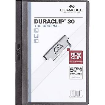 Kestävä leikkeen tiedoston DURACLIP 30-2200 220001 A4 musta