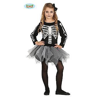 Guirca schauriges Skelett Kleid für Mädchen Halloween Tutu Kinder Kostüm