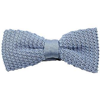 Knightsbridge Neckwear ren strikket sløyfe - himmelblå