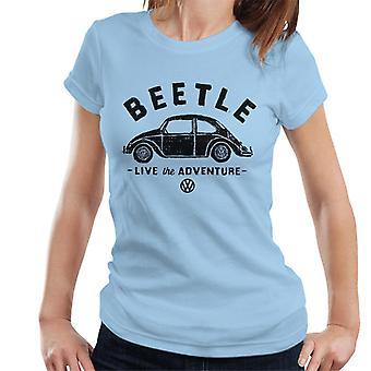 Official Volkswagen Beetle Black Live The Adventure Women's T-Shirt