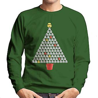 Camiseta original de casco de soldado de asalto árbol de Navidad los hombres
