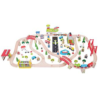 Bigjigs Rail Wooden Transport Railway Train Set Track Pretend Play