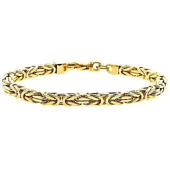 Iced out stainless steel DOTTE bracelet - 4mm gold