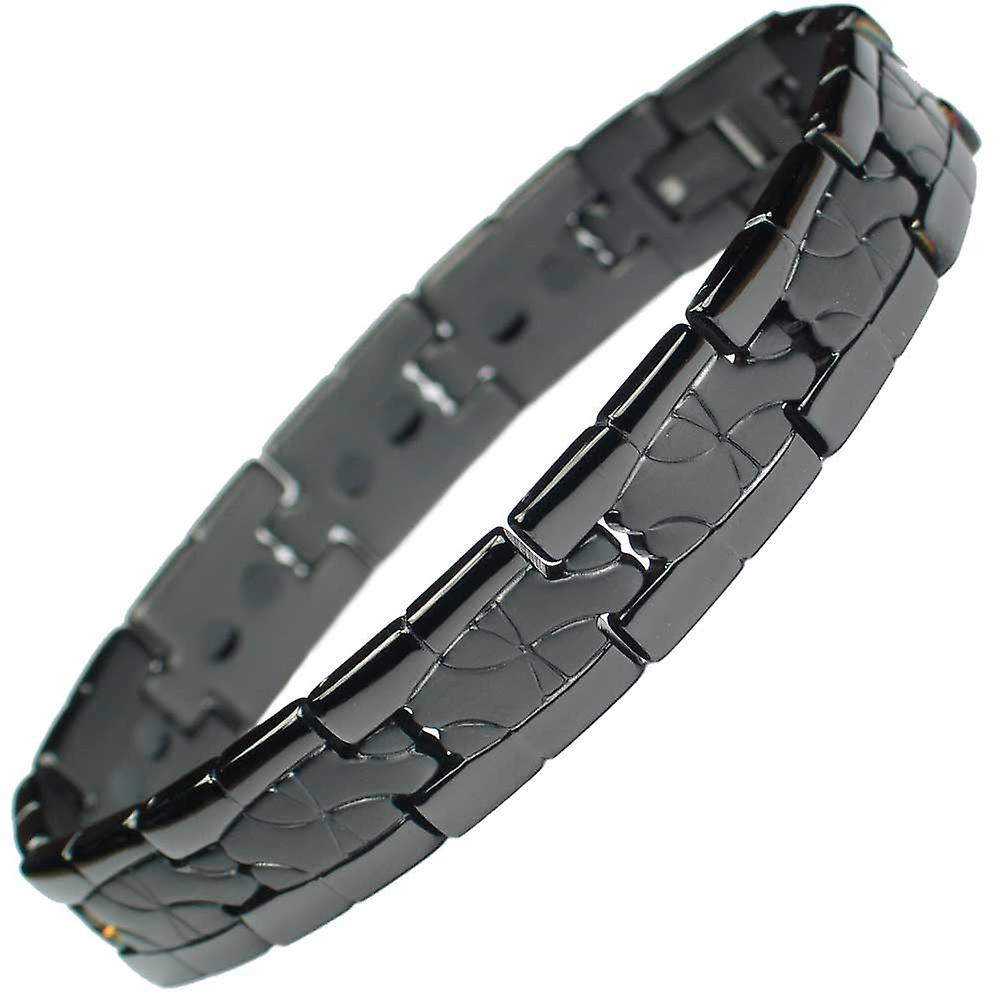 MPS® TATOO Titanium Black Magnetic Bracelet - With free link removal tool
