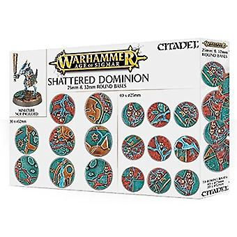 Games Workshop Warhammer idade de Sigmar quebrado Dominion Bases redonda com 25-32 mm