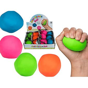 4-Pack clamp and moldable Stress ball Antistress ball Squeeze Neon Colors