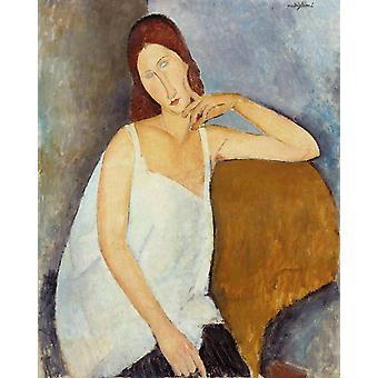 Jeanne Hebuterne,Amedeo Modigliani,50x40cm