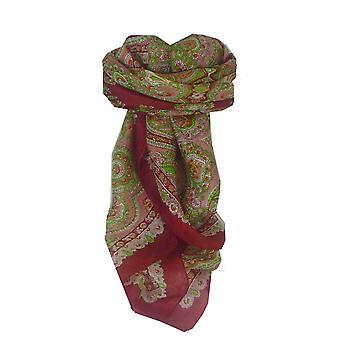 Maulbeere traditionelle quadratischen Seidentuch Madras Red von Pashmina & Seide