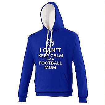 Blue and White I Can't Keep Calm I'm a Football Mum Hoody
