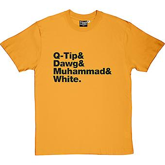 A Tribe Called Quest Line-Up Yellow Men-apos;s T-Shirt