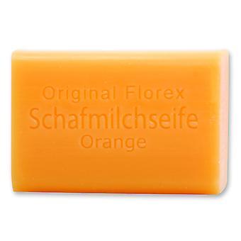 Florex schapen melk SOAP - oranje - met pittig fruitige sinaasappel geur 100 g