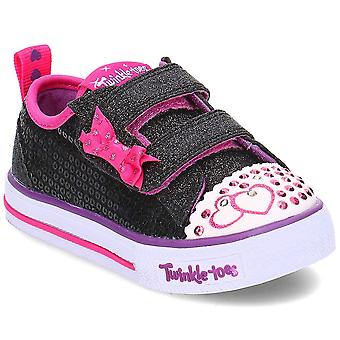 Skechers S fények Itsy Bitsy 10764NBKHP egyetemes egész évben csecsemők cipő