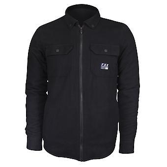 Fox Racing Mens Torrent Flannel LS Zip Over Shirt - Black