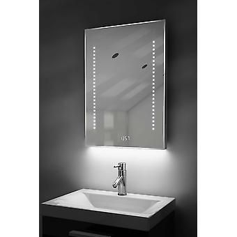 Digital Clock Slim Mirror with RGB Lighting, Demist & Sensor k184rgb