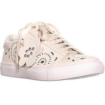 Nanette Lepore Womens Wesley Leather Low Top Lace Up Fashion Sneakers