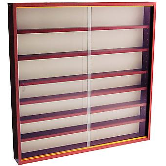 Reveal - 6 Shelf Glass Wall Collectors Display Cabinet - Mahogany