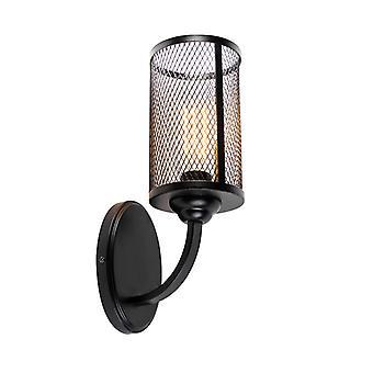 QAZQA lámpara de pared industrial Black-gauze
