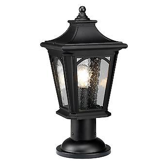 Elstead-1 licht medium sokkel lantaarn-Mystic zwarte afwerking-QZ/BEDFORD3/M