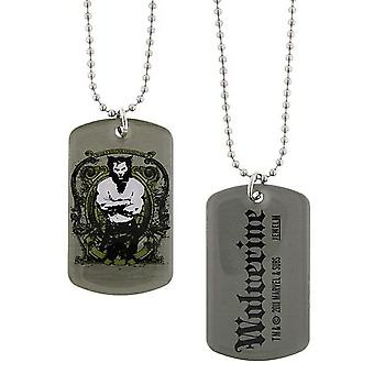 Marvel Wolverine origines double face Dog tag