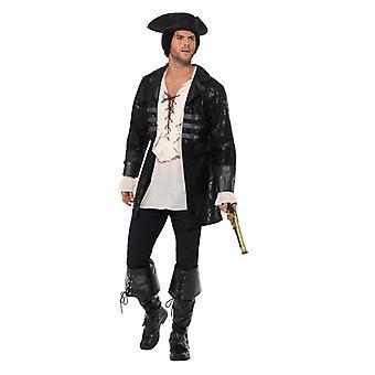 Fekete Pirate Jacket kabát bőr Optics-tenger Reeper jelmez karnevál