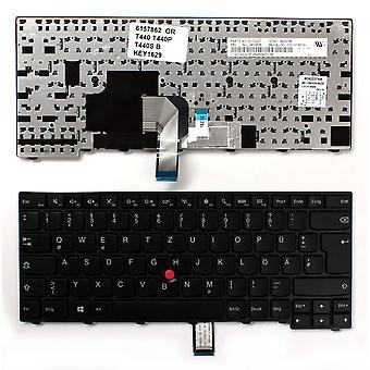 Lenovo ThinkPad T440:n kanssa osoitin musta kehys musta Windows 8 Saksan layout korvaaminen Laptop Keyboard