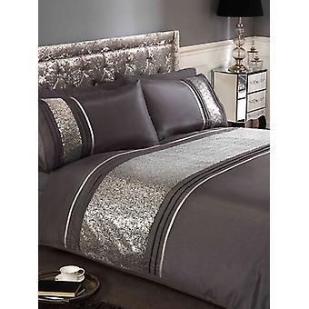 Ritz Silver Duvet Cover and Pillowcase Set
