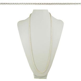 永遠コレクション カバリーノ織ポニーの尾リンク 36 インチ シルバー トーンのネックレス