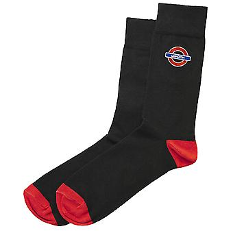 Tfl™6304 mens licensed london roundel™ embroidery sock size 6-11